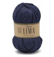 Пряжа DROPS Lima Цвет.9016 Navy blue/т.синий