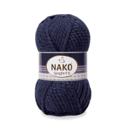 Пряжа Nako Spaghetti Цвет.3088 т.синий