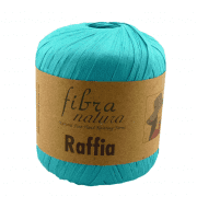 Пряжа Fibra Natura Raffia Цвет.116-09 бирюза
