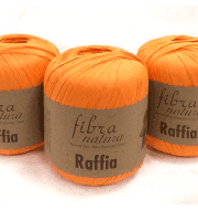 Пряжа Fibra Natura Raffia Цвет.116-19 оранж