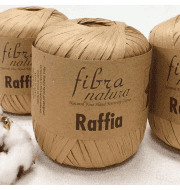 Пряжа Fibra Natura Raffia Цвет.116-14 беж