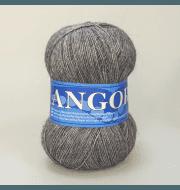Пряжа Midara Angora 2 Цвет. 1002 т.серый меланж