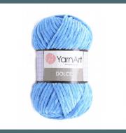 Пряжа YarnArt Dolce Цвет. 777 яр.голубой