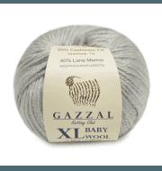 Пряжа GAZZAL Baby Wool XL Цвет.817XL Серый