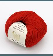Пряжа GAZZAL Baby Wool XL Цвет.811XL Красный