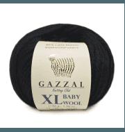 Пряжа GAZZAL Baby Wool XL Цвет.803XL Черный