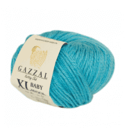 Пряжа GAZZAL Baby Wool XL Цвет.820XL Бирюзовый