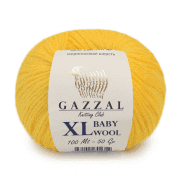 Пряжа GAZZAL Baby Wool XL Цвет.812XL Желтый