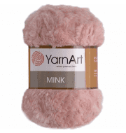 Пряжа YarnArt Mink Цвет.341 Розовый