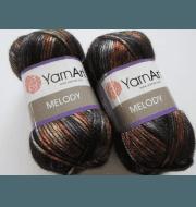 Пряжа YarnArt Melody Цвет.908 Черно-серый