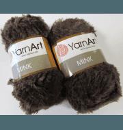 Пряжа YarnArt Mink Цвет.333 Коричневый