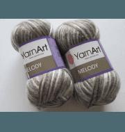 Пряжа YarnArt Melody Цвет.907 Белый-бежевый-серый
