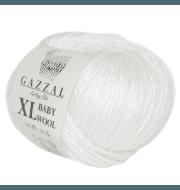 Пряжа GAZZAL Baby Wool XL Цвет.801XL Белый
