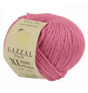 Пряжа GAZZAL Baby Wool XL Цвет.828XL Розовый