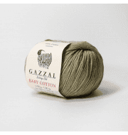 Пряжа GAZZAL Baby Cotton Gazzal Цвет.3464 Болотный
