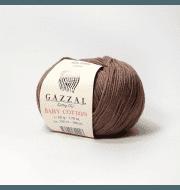 Пряжа GAZZAL Baby Cotton Gazzal Цвет.3455 Шоколад