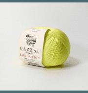 Пряжа GAZZAL Baby Cotton Gazzal Цвет.3462 Неон желтый