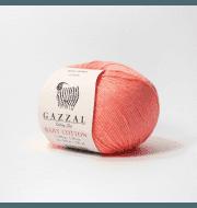 Пряжа GAZZAL Baby Cotton Gazzal Цвет.3460 Неоновый коралл