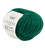 Пряжа GAZZAL Baby Wool XL Цвет.814XL Зеленый