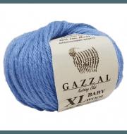 Пряжа GAZZAL Baby Wool XL Цвет.813XL Голубой