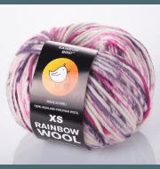 Пряжа RAINBOW BIRD XS RAINBOW WOOL Цвет.Berry's milkshake