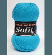 Пряжа Color City Sofit Цвет.318 Бирюзовый