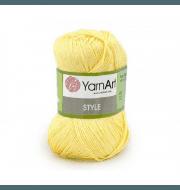 Пряжа YarnArt Style Цвет.656 Св.желтый