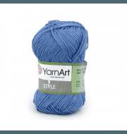 Пряжа YarnArt Style Цвет.669 Т.голубой