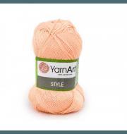 Пряжа YarnArt Style Цвет.658 Персик