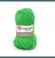 Пряжа YarnArt Style Цвет.663 Салат