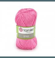 Пряжа YarnArt Style Цвет.665 Розовый