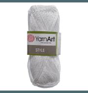 Пряжа YarnArt Style Цвет.650 Белый