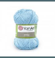 Пряжа YarnArt Style Цвет.668 Голубой