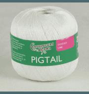 Пряжа Семеновская Pigtail Цвет.Белый