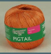 Пряжа Семеновская Pigtail Цвет.Ярко оранжевый