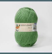 Пряжа Пехорка Школьная Цвет.434 Зеленый