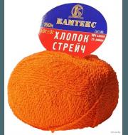 Пряжа Камтекс Хлопок стрейч Цвет.68 Апельсин