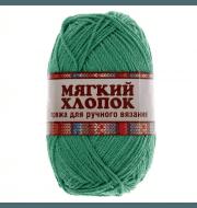 Пряжа Камтекс Мягкий хлопок Цвет.109 Ярко зеленый