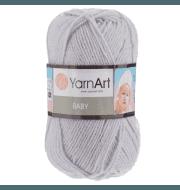 Пряжа YarnArt Baby Цвет.855 Серебристый