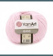 Пряжа YarnArt Jeans Цвет.74 Нежно розовый