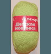 Пряжа Пехорка Детская новинка Цвет.193 Светло салатовый