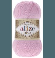 Пряжа Alize Diva Цвет.185 Св.розовый