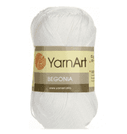 Пряжа YarnArt Begonia Цвет.003 Белый